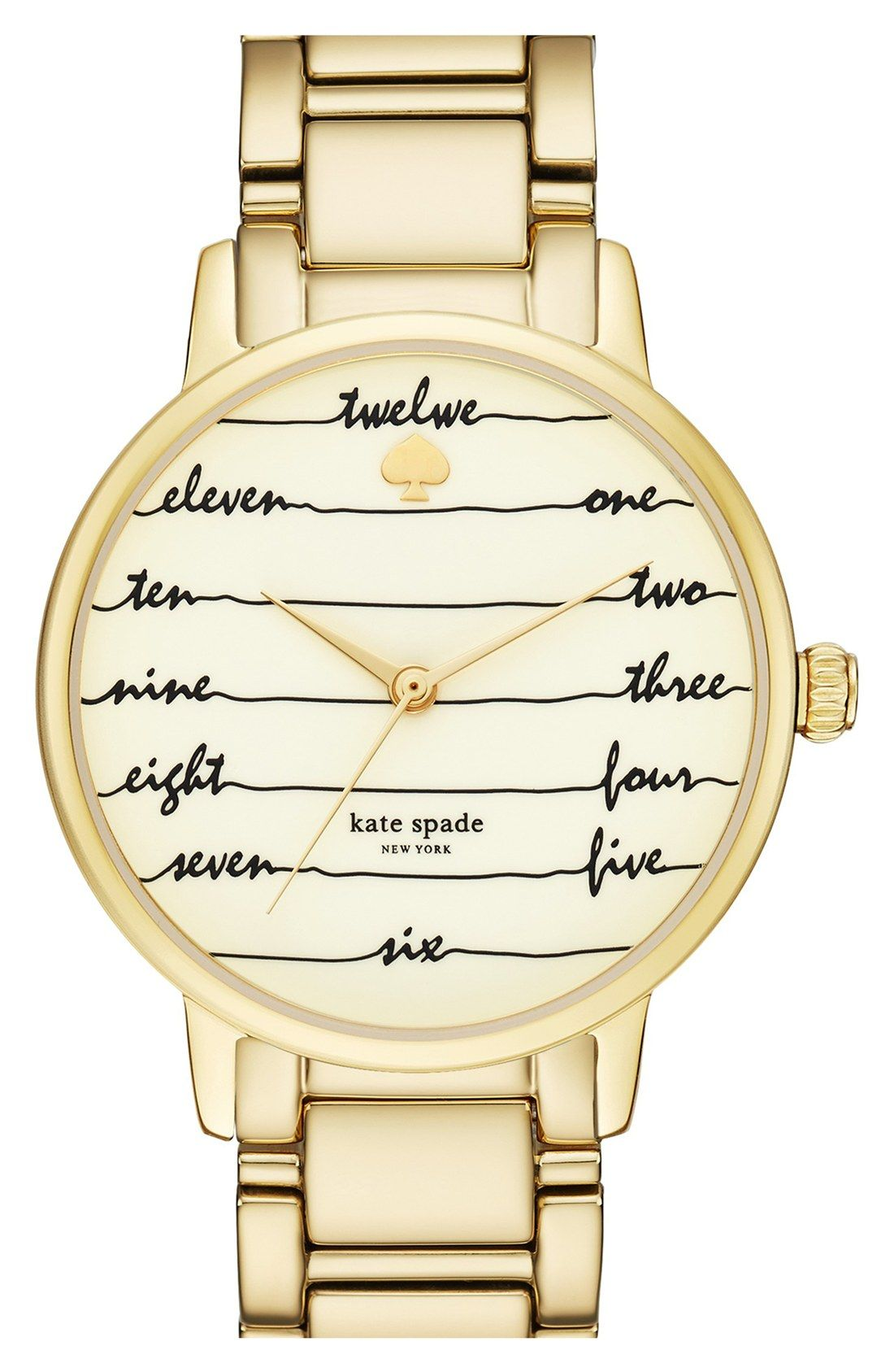 love this gold kate spade watch!