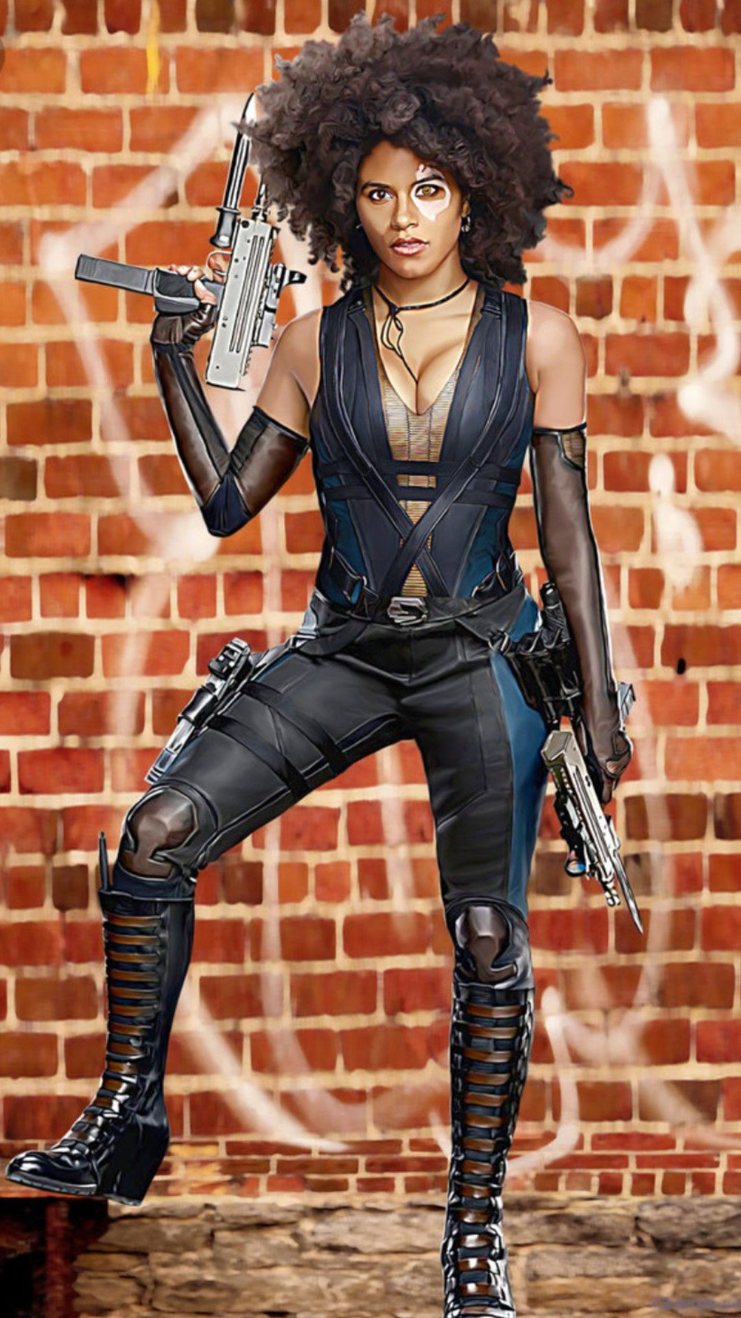 Zazie Beets Domino Marvel Marvel Halloween Costumes Deadpool Halloween Costume