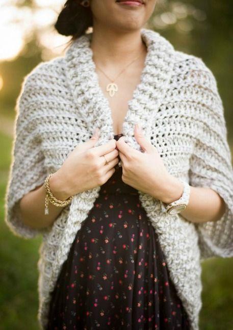 Chunky Crochet Sweater | crochet | Pinterest | Chunky crochet ...