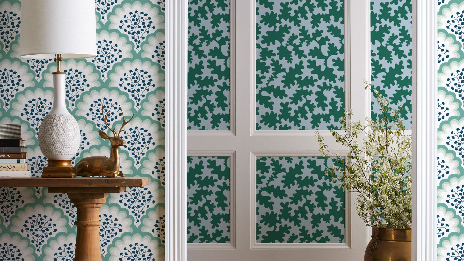 13 Home Decor Zoom Backgrounds That Ll Make It Look Like You Just Redecorated Decor Chic Wallpaper Redecorating