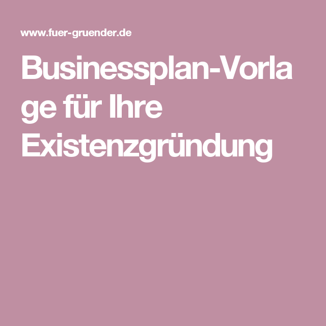 businessplan vorlage fr ihre existenzgrndung - Rentabilittsvorschau Muster