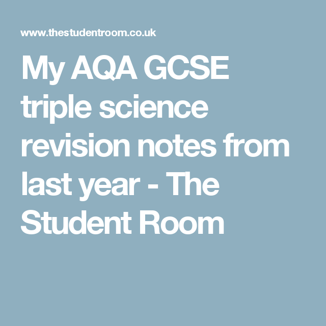 My aqa gcse triple science revision notes from last year the school my aqa gcse urtaz Image collections