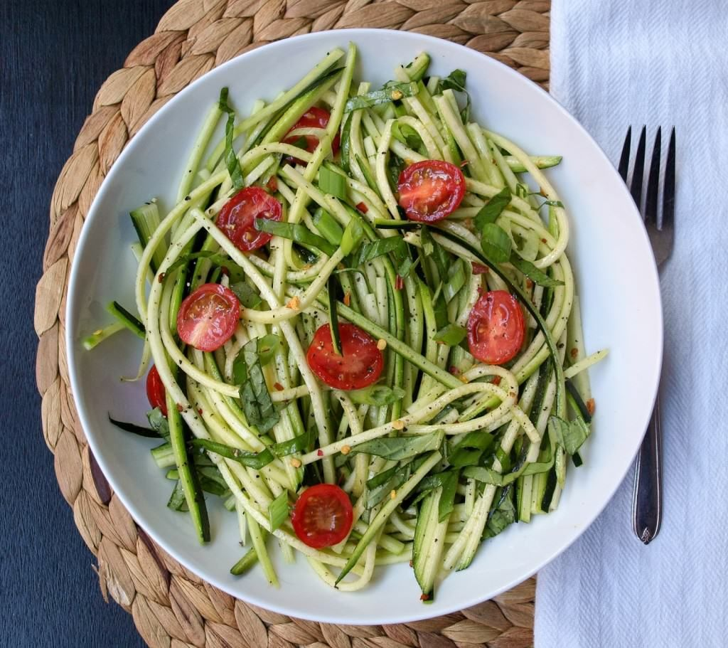 Paleo Zucchini Pasta Salad Recipe-Healthy Baked Zucchini Recipes