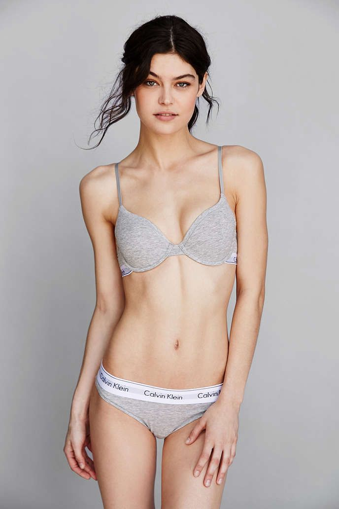 5525db33d3 A fresh take on the classic T-shirt bra  The Modern Cotton T-shirt  Underwire bra from Calvin Klein Underwear.  mycalvin  UOonYou