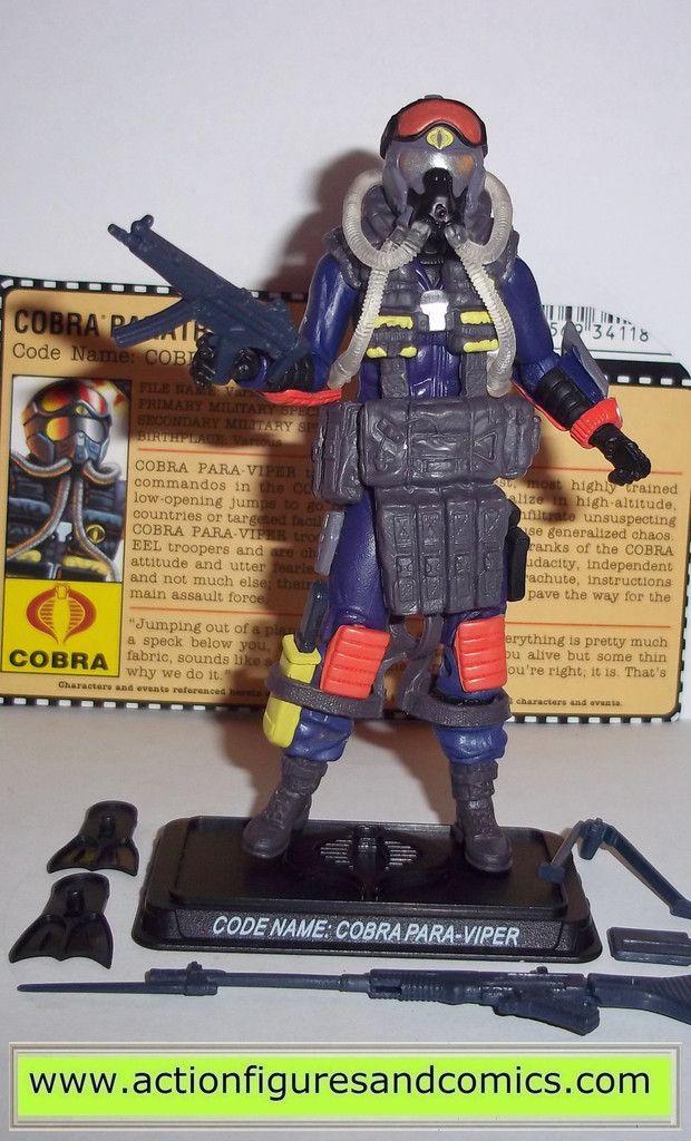 Joe 25th Cobra Para Viper Trooper Figure Complete w// File Card G.I