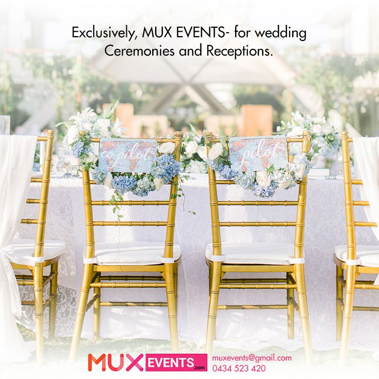 Wedding Ceremony And Reception Melbourne: Add Glamour To Your Special Event By Hiring Golden Tiffany