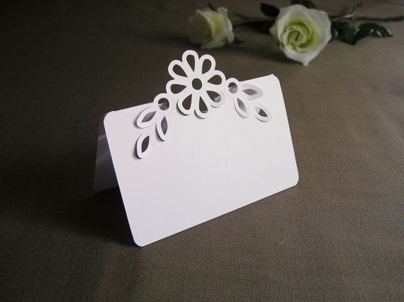 100 Blank Pop Up Flower With Leaves Wedding Place Cards