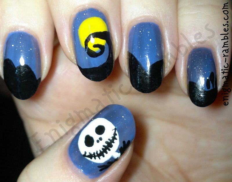 Nightmare Before Christmas   Nails   Pinterest   Holographic top ...