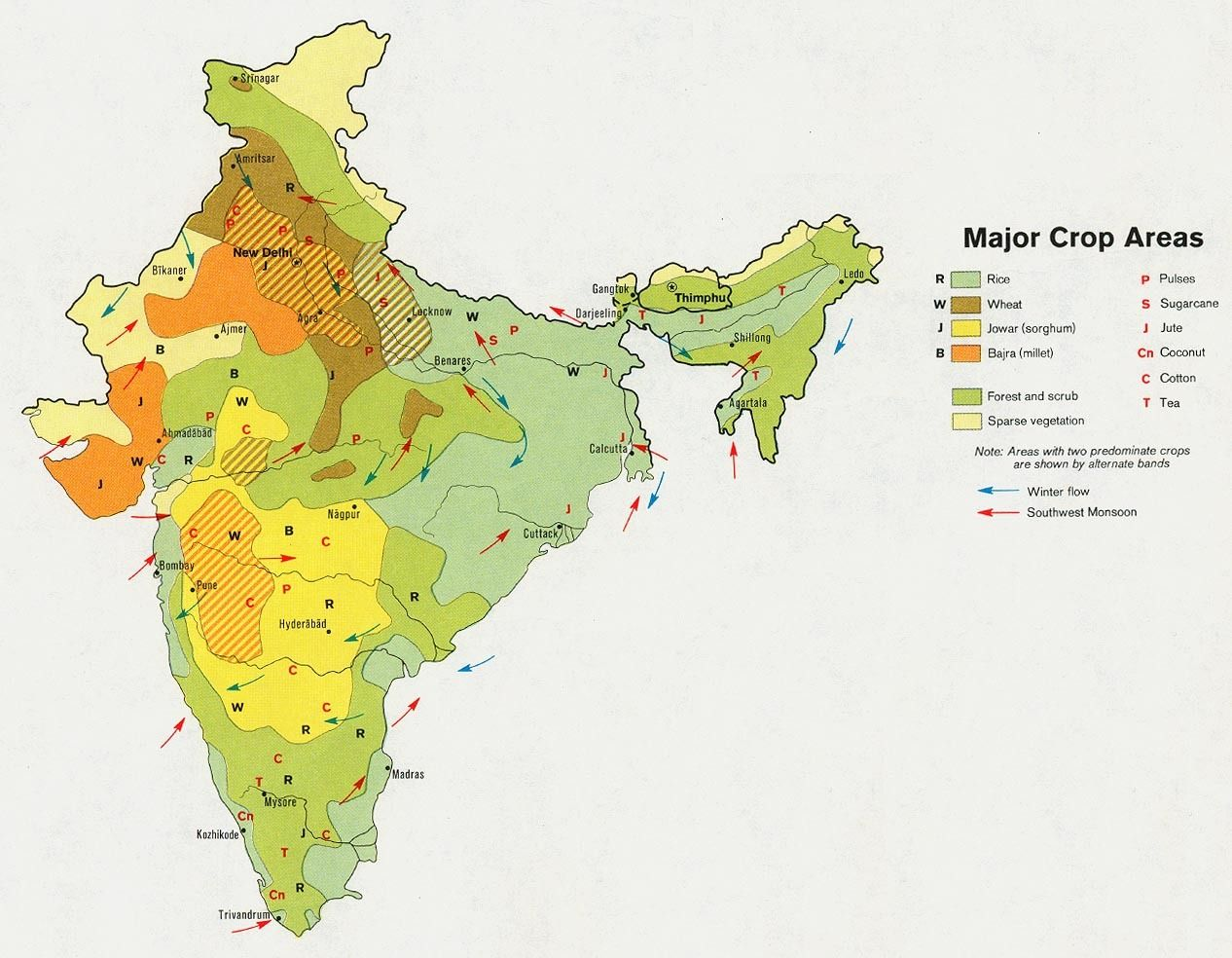 major crop agriculture map of india Analysis Of Trends In Area Production And Yield Of Important major crop agriculture map of india