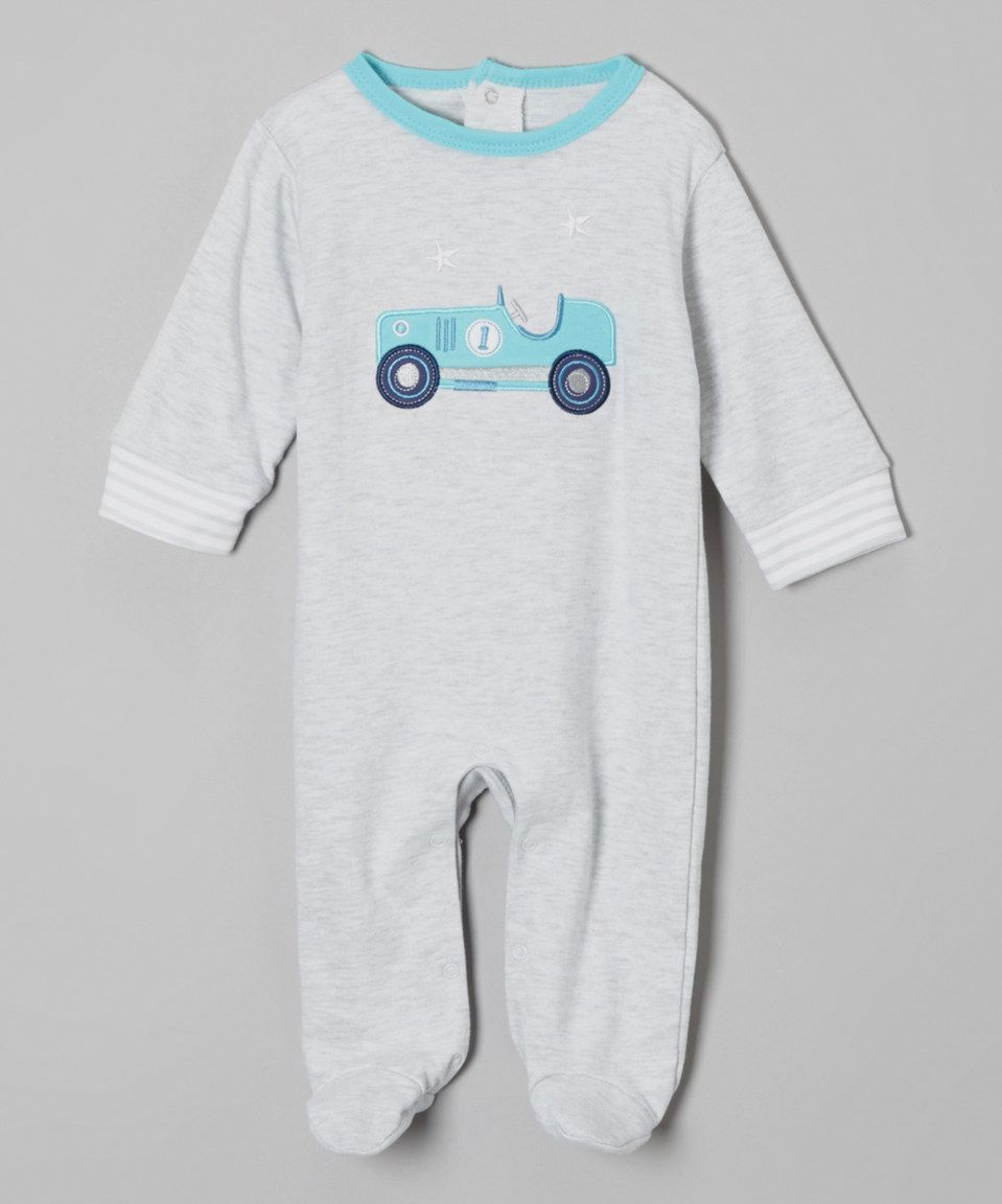 Love this René Rofé Baby Gray Heather Racecar Footie by René Rofé Baby on #zulily! #zulilyfinds