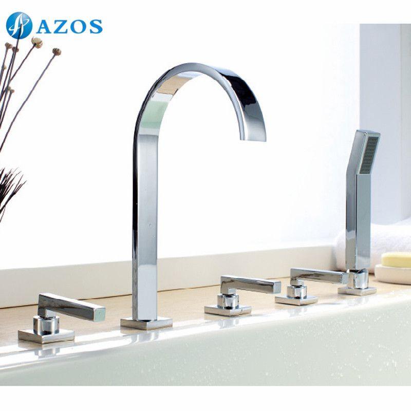 Bathtub Shower Faucets Chrome Polish Bathroom Suana 5pc Sets ...