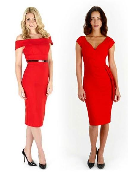 Bardot Red Pencil Dress & Hourglass Red Pencil Dress #fashion ...