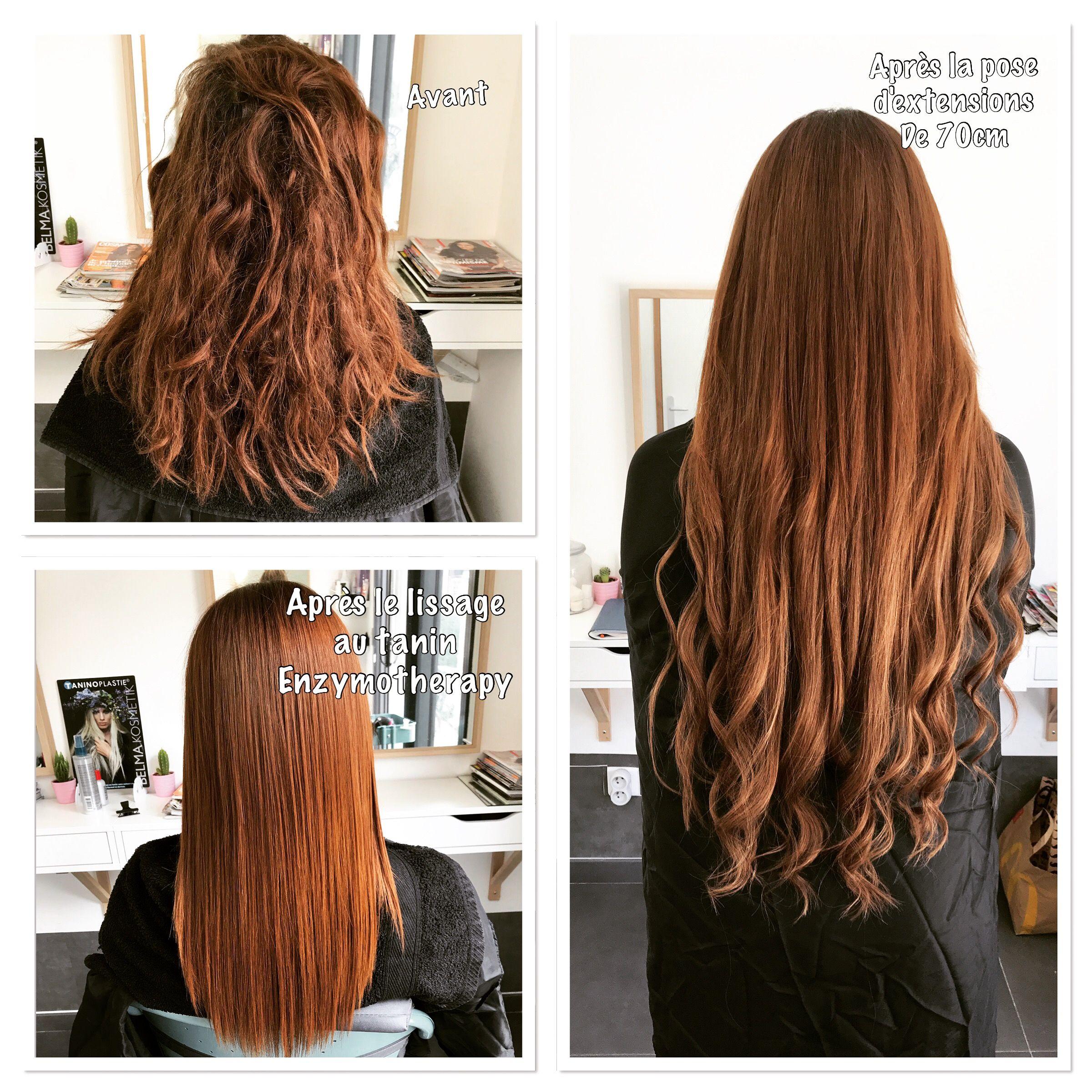 Lissage a la keratine cheveux