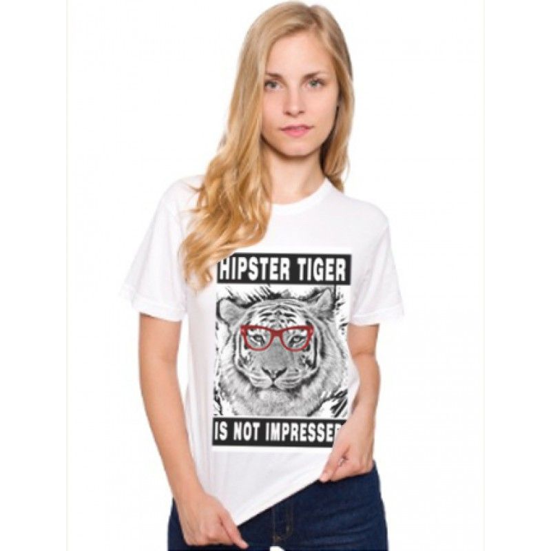 Hipster Tiger Shirt  Tigers are so mainstream.  The softest, smoothest, best-looking T-shirt available anywhere. Fine Jersey (100% Cotton) construction    Unisex size – women may prefer to order one size smaller     ...