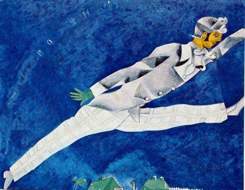Marc Chagall, El viajero (1917)