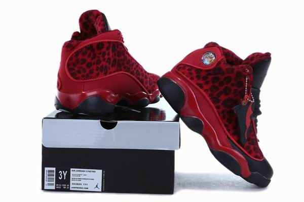c78e9a99c0f Air Jordan 13 Kids Cheetah Leopard Print Dark Red Black New Jordans Shoes  2013  Red  Womens  Sneakers