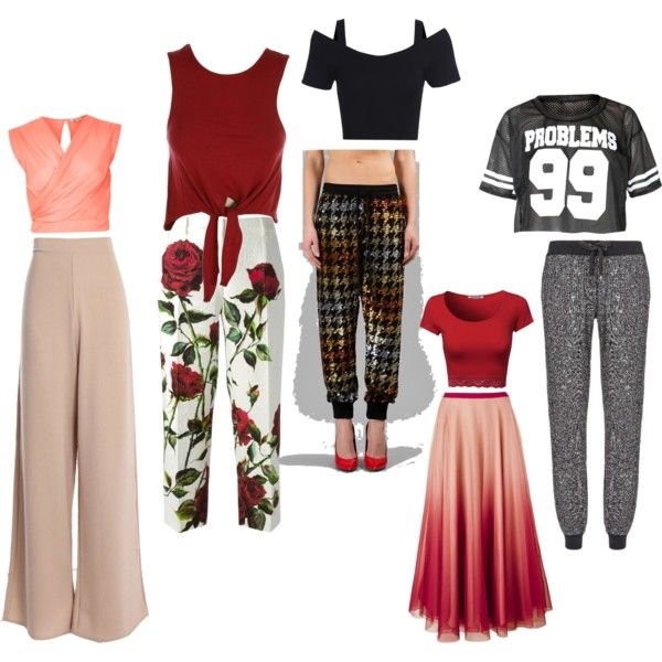 Inverted triangle body shape tops & bottoms by nancy-nishad on Polyvore  featuring polyvore,