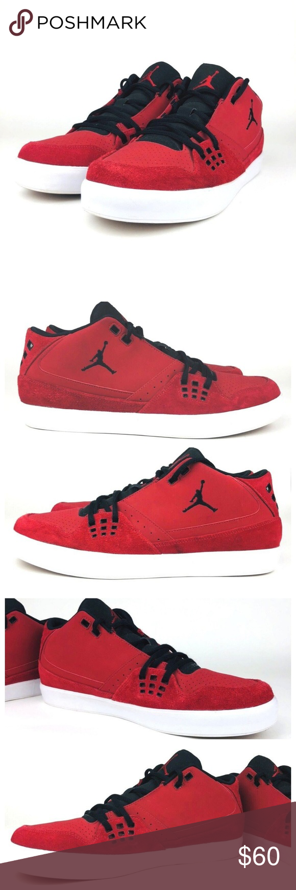 bb2b08da72597f Nike Jordan Flight 23 Sneakers 510892-601 Nike Jordan Flight 23 Classic Gym  Men s Size 13 Red Black White Sneakers Suede 2011 2012 Nike Shoes - Air  Jordan ...