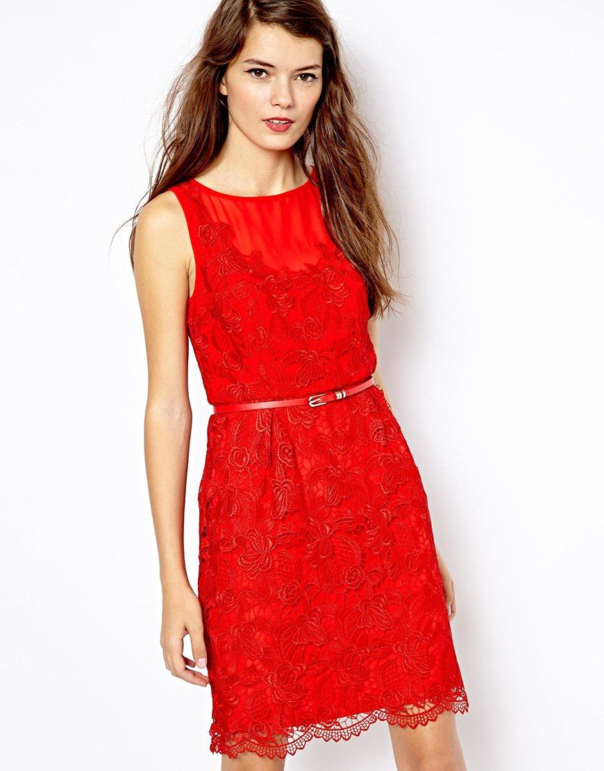 Oasis red lace dress asos beautiful dresses pinterest red lace