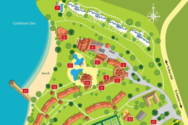 Morgan Bay Resort Map St Lucia At Caribbean St James