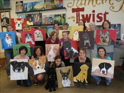 Paint Your Pet Sarasota Fl Painting Class Painting With A