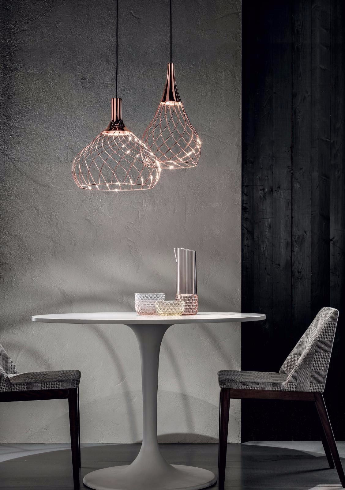 Lumin Ria Pendente Led De Ferro Com Luz Direta Mongolfier By Linea