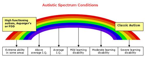 What is ASD? A visual diagram of the spectrum of the Autism ...