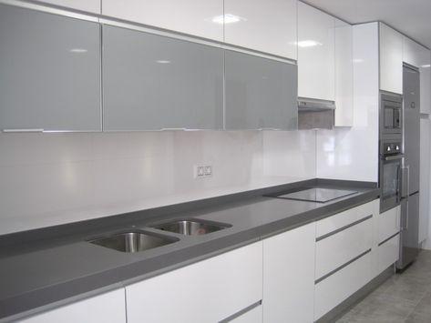 Cocina sin tiradores buscar con google home reno pinterest kitchens and house - Cocina blanca sin tiradores ...