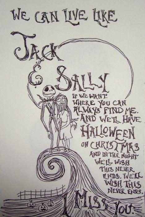 Jack and sallys song nightmare before christmas lyrics