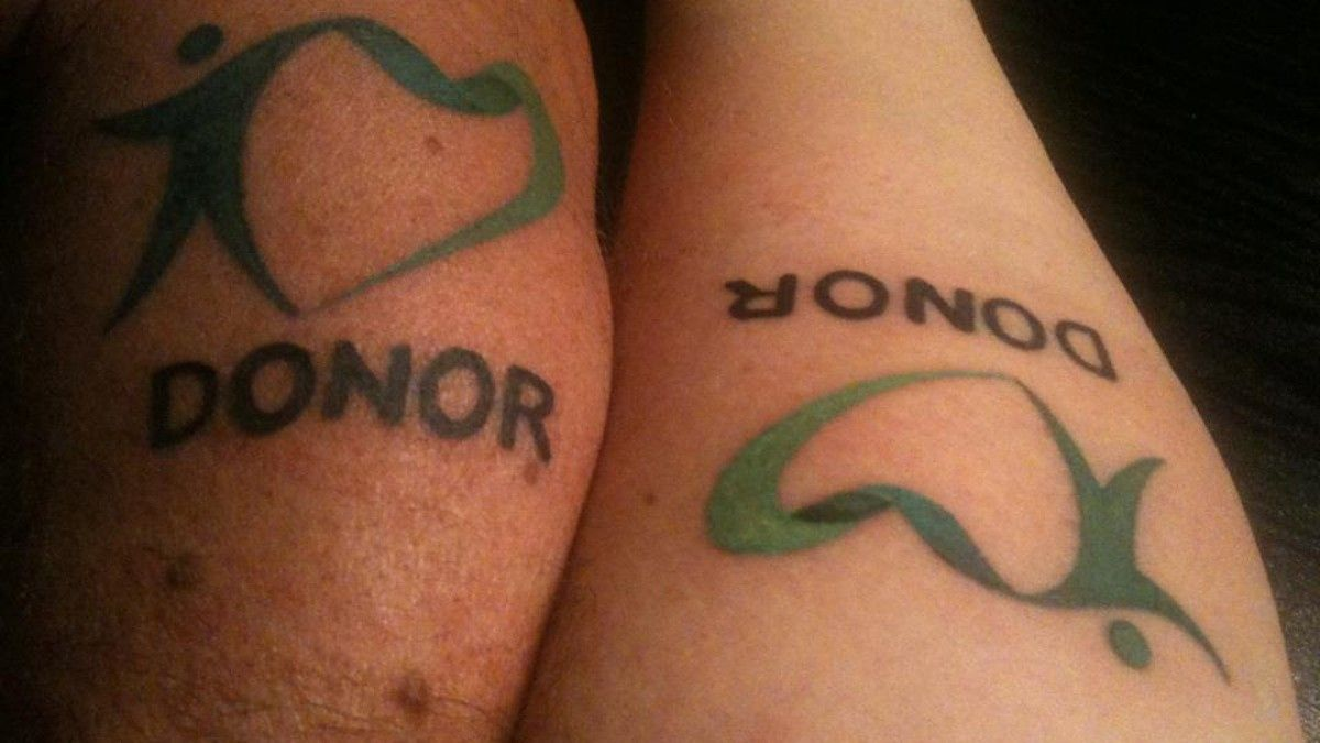 Organ donor tattoo google s k tattoos pinterest for Can you give blood with a tattoo