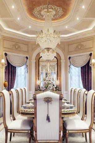 View This Great Traditional Dining Room With Wall Sconce Crown Molding Discover