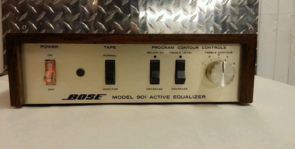 vintage bose 501 speakers. vintage bose 901 original series i or ii equalizer for stereo speakers + cables 501