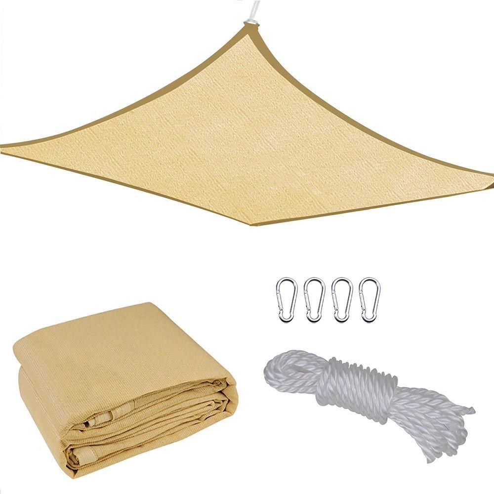 16x16 Square Sun Shade Sail Uv Blocking Outdoor Patio Lawn Garden Canopy Cover Walmart Com In 2020 Sun Sail Shade Shade Sail Patio Shade