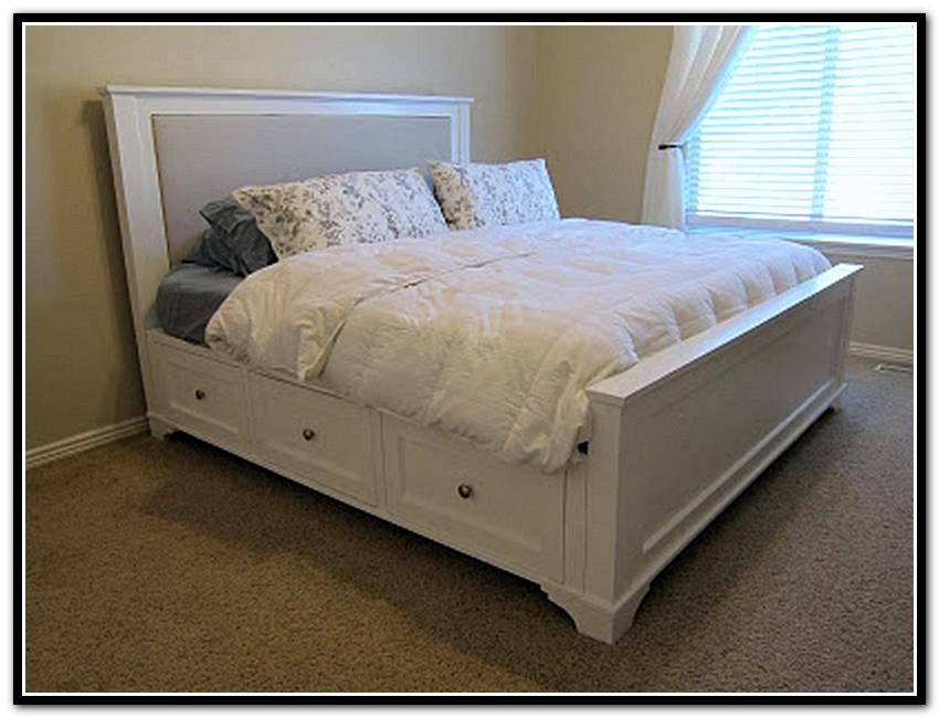 diy-king-size-bed-frame-with-storage.jpg 850×650 pixels | Sullivan ...