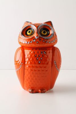 Owl cookie canister