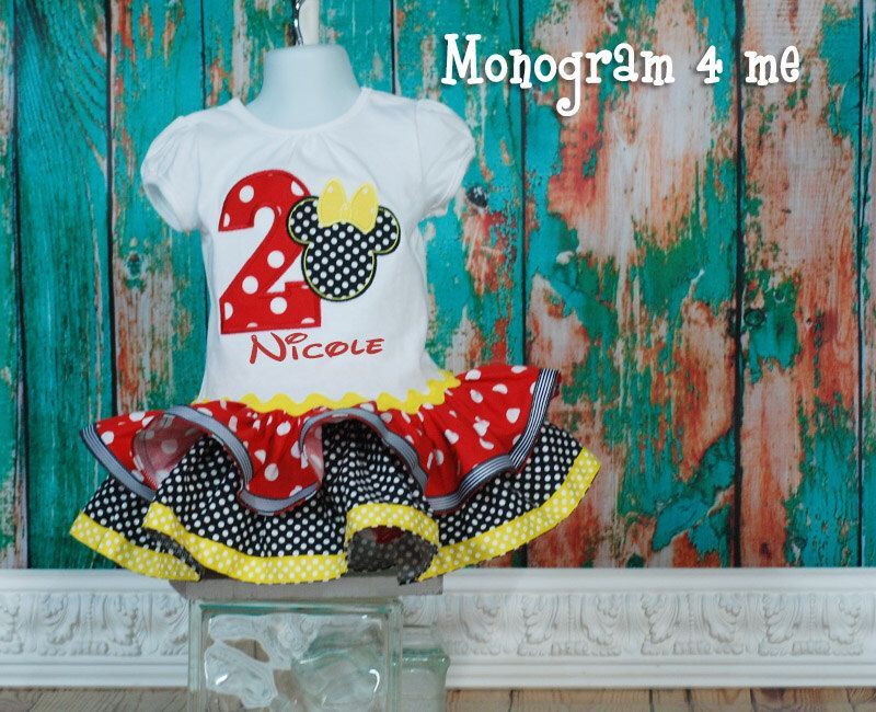 A personal favorite from my Etsy shop https://www.etsy.com/listing/193641055/minnie-mouse-birthday-dress-1st-birthday