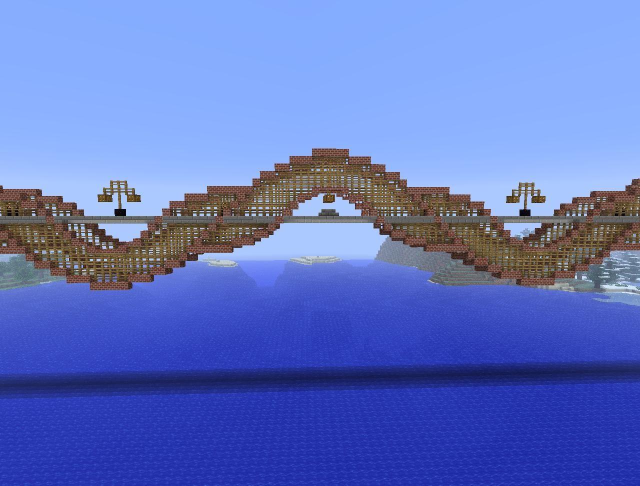 minecraft railroad designs rail bridge few hour build