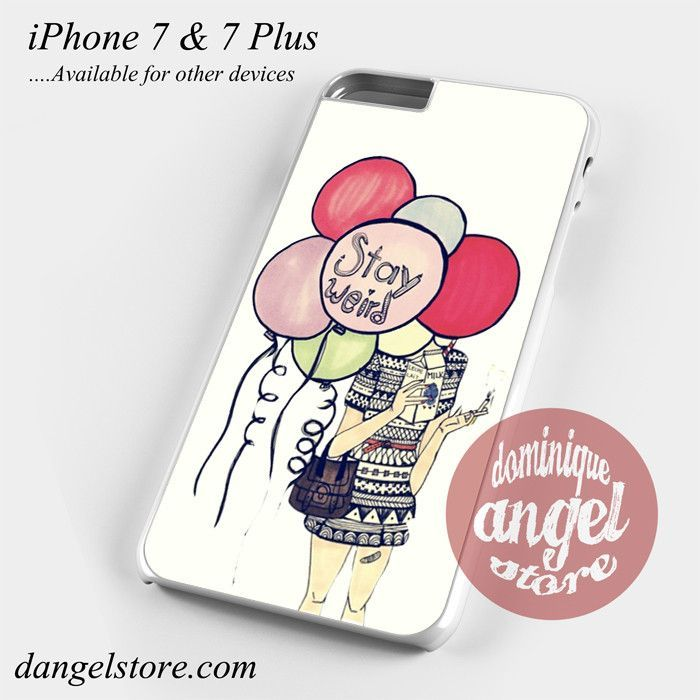 Girl Hide In Weird Balloon Phone Case for iPhone 7 and iPhone 7 Plus