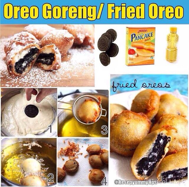 Oreo Goreng Cemilan Yg Cocok Di Hari Minggu Oreo Pancakes Bakery Cakes Oreo