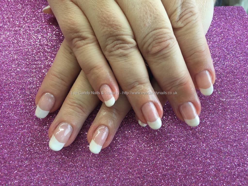 Hard gel nails with French polish | Nail Addiction | Pinterest ...