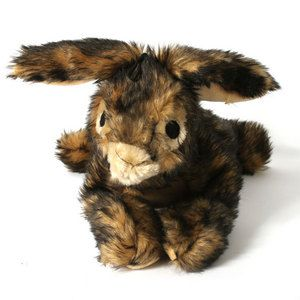 Brown Crinkle Rabbit Dog Toy