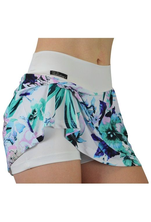 6af5b09b05 Short Saia - Branco Floral http   www.lojavalentinas.com.