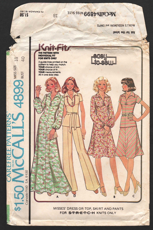 1970s Maxi Dress Skirt Top Pants Pattern Plus Size 18 Etsy Looks [ 3000 x 2001 Pixel ]