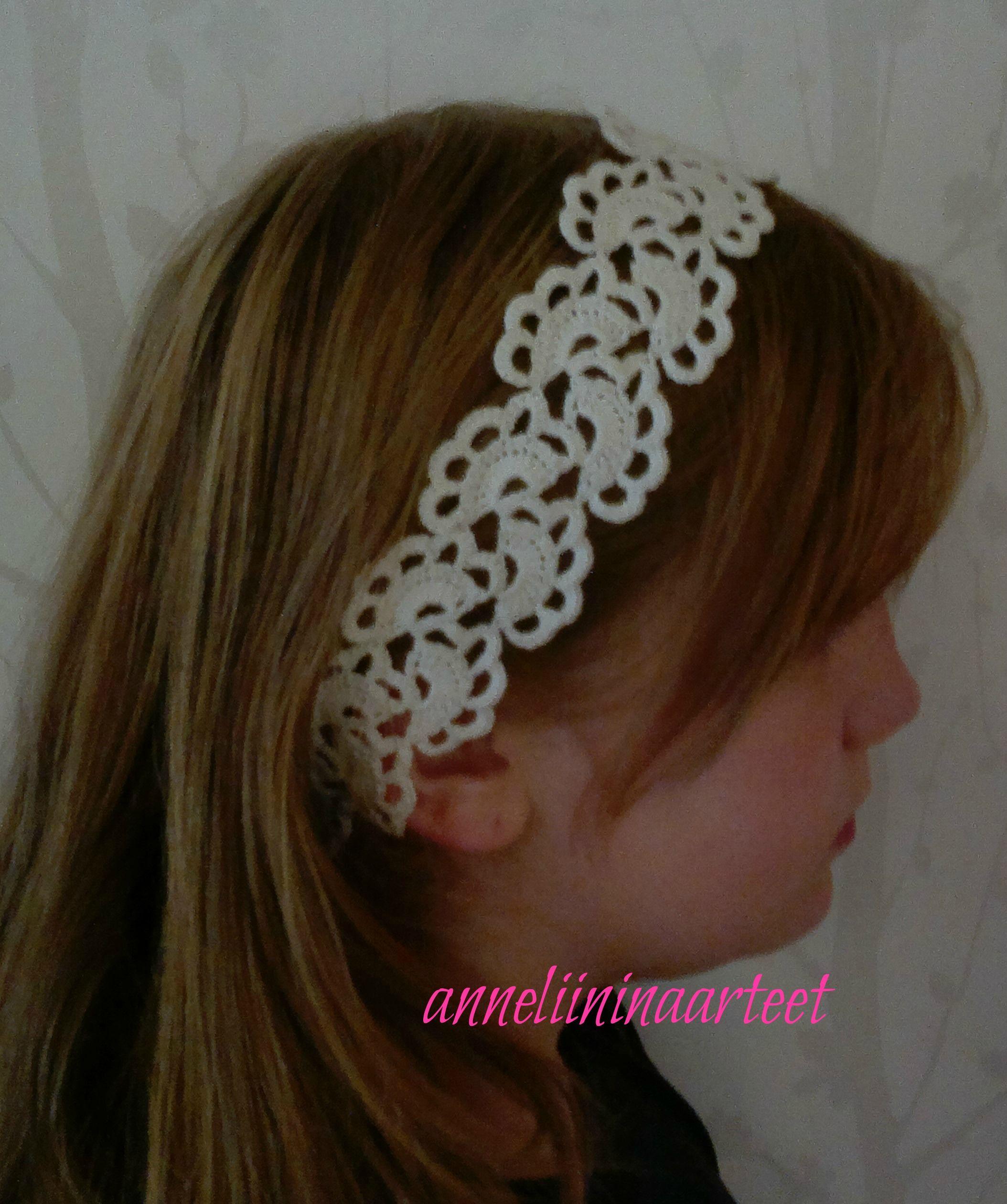 virkattu hiuspanta - crochet headband