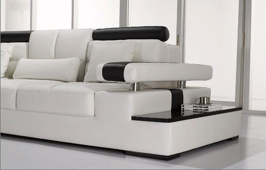 Leather Sectional Sofa Arms Furniture Modern Design