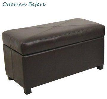 Peachy Reupholster A Storage Ottoman In 2019 Diy Ottoman Diy Machost Co Dining Chair Design Ideas Machostcouk