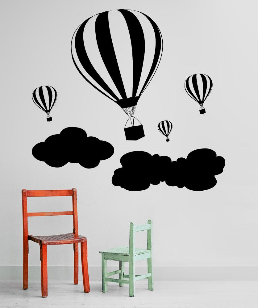 Vinyl Wall Decal Sticker Hot Air Balloons #1136 Part 77