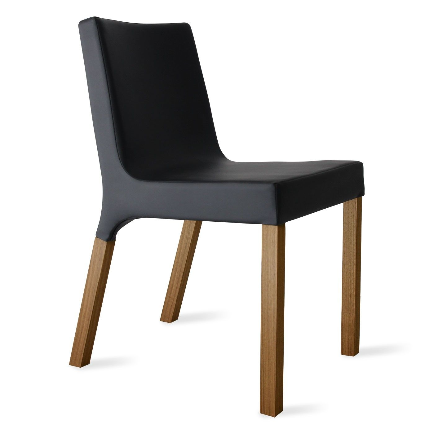 Modern Black Fabric and Wood Chair | Mill Valley - Escalon | Pinterest
