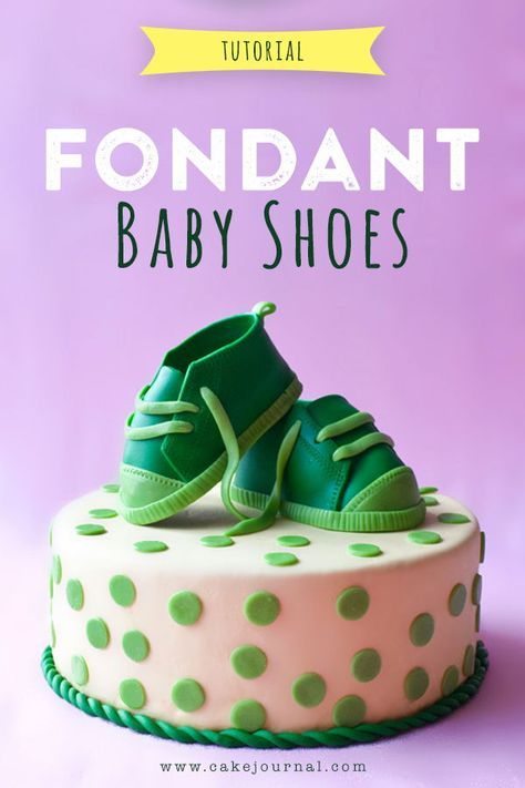 Fondant Baby Shoes, Baby Shoes