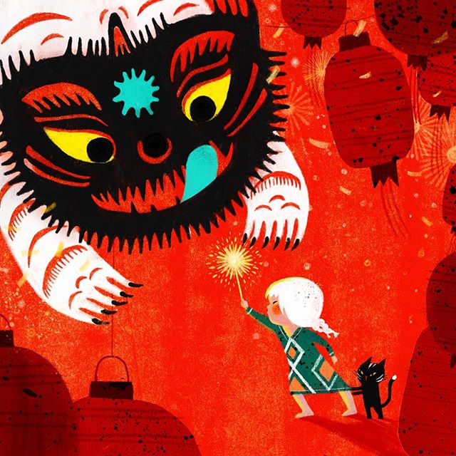 Brigida Magro On Instagram Nian The Chinese Monster Chinese New Year Celebration Latest Campaign With The Folks Brigh In 2020 Art Illustration New Year Celebration